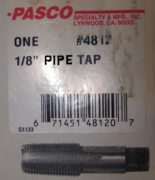 Standard tapered pipe tap